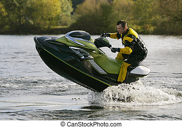 Out Of The Water - A jet skier gets his personal water craft...