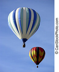 Togetherness - Two hot air balloons flying together