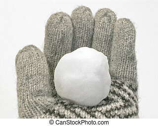 snowball in glove - snowball in a winter glove