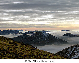 Scottish highlands - View from Aonach Mor in the Scottish...