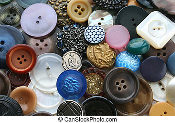 Discarded Buttons - An Assortment of Discarded Buttons is...
