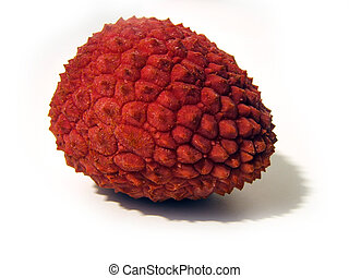 tropical fruit - isolated tropical fruit called lichi
