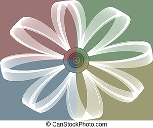 Daisy on four square background
