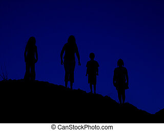 HillTop - Negative isolation of four kids on a hill