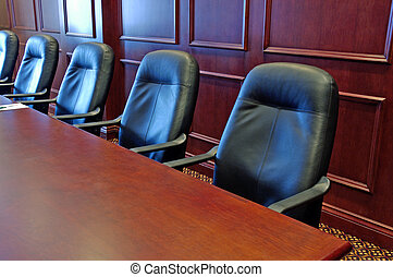 Boardroom - Head Office Boardroom With Leather Chairs