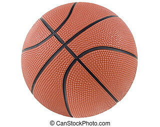Basketball - an isolated basketball