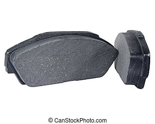 Disc Brake Pads - A Set of Disc Brake Pads Isolated