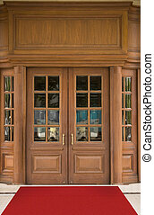 Hotel Door - Elegant hotel oak door