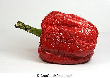 Pepper - A shrunken red pepper