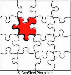 Stand out from the c - Conceptual jigsaw illustration