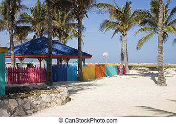 colourful fence 3 - colourful fence on an island in the...
