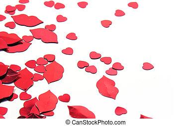 Hearts and lips confetti
