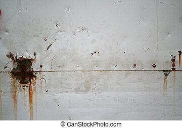 metal rust - detail of industrial metal gate