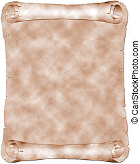 Antique parchment - Antique sepia parchment isolated on...