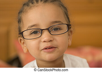 Quite Studious 4 - A beautiful young mixed race girl wearing...