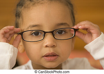 Quite Studious 5 - A beautiful young mixed race girl wearing...