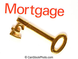 Gold mortgage pound key - A gold key with the pound symbo,...