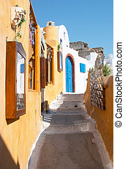 Street in Oia Santorini Greece - Narrow street in Oia...