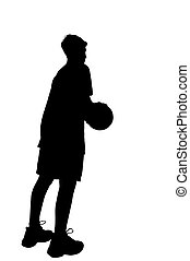 Basketball player  - Isolated basketball-player