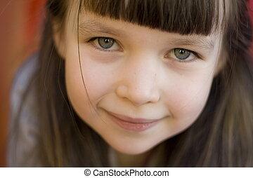 face of girl - smiling girl