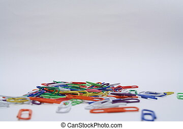 Paperclips of various colours