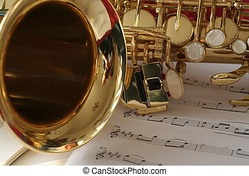 Saxophone - saxophone and music