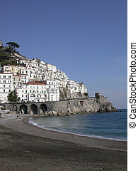 Amalfi Beach - The beach at Amalfi, Italy