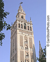 Seville Bell Tower - Bell tower of the cathedral, Seville,...