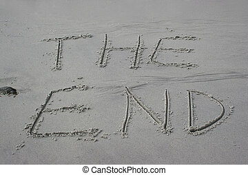 the end drawn in sand