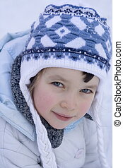 portrait of girl - winter girl