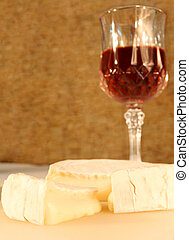 Cheese and wine - Camembert with a glass of sherry