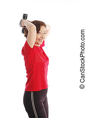 woman exercising 887 - woman exercising model released