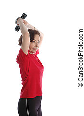 woman exercising 889 - woman exercising model released