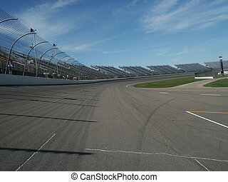 Track - View of a race track.