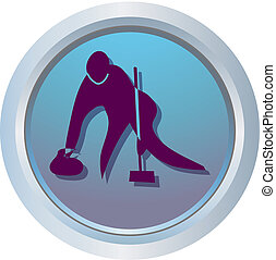curling - symbol of winter sports