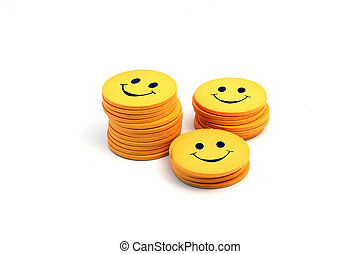 Stack of smilies.