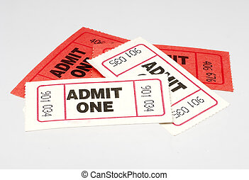 Tickets - Red and White Admit One Tickets