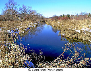 Etobicoke Creek - The Etobicoke Creek near Loafers Lake in...
