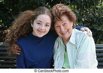 abuelita, y, nieta