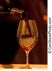 Wine tasting - A glass of wine