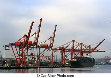 Port cranes - Seattle seaport
