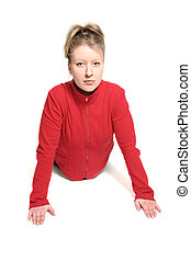 woman doing exercise