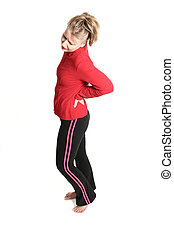 woman with backpain - woman with low back pain