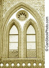 Gotic Window - gotic window of the city hall of Tangermuende...