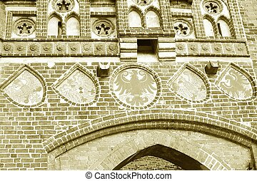 Gotic Detail - detail of the Stendal Gate in Tangermuende...