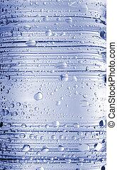 Water Drops on Bottle