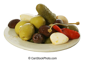 Olive Tapa 1 - Olive and pickle tapa
