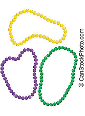 Mardi Gras beads - Mardi gras beads in the classic colors