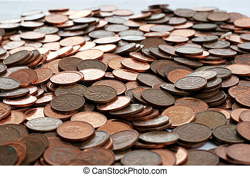 pennies - canadian pennies