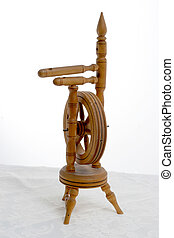 barrel organ, spinning wheel